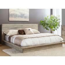 White Washed Modern Rustic King Platform Bed Renewal RC Willey