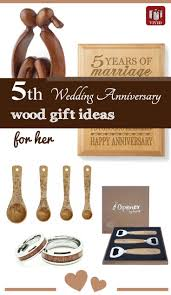 5th anniversary ideas wood anniversary gifts