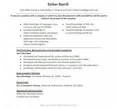 Resume Java Developer Cover Letter Example