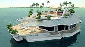 Tropical Island Yacht 6 5 Million Floating House Orsos Artificial Islands Youtube
