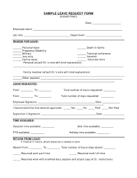 Sample Vacation Request Form Employee Vacation Request Form Sample Forms