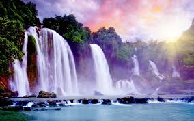 Showers of Heaven Hd Wallpaper | Unique HD Wallpapers | Landscape, Paradise  falls, Beauty salon names