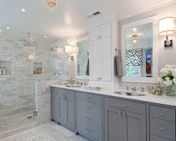 Custom Master Bathrooms Extraordinary Love The Grey And White Contrast With The Custom Cabinets And The