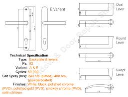 prostyle 92pz lever lever door handle by mila backplate length 240mm the window door repair