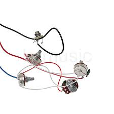 guitar wiring harness kits annavernon guitar wiring harness kit 2v2t pot jack 3 way switch for les paul