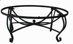 Finley White Wrought Iron Coffee Table Base Simple Themes  Cameomarbleandgranite Series