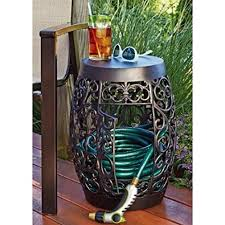 decorative steel hose pot