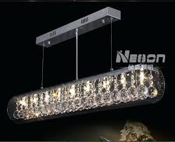 long ceiling light fixture modern crystal glass decorated in living r38