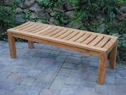 image of backless garden benches for home