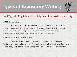 types of expository essays expository writing the purpose of expository writing is to explain a