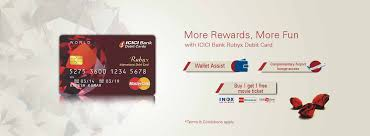icici bank rubyx debit card