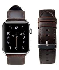 leather watch strap replacement for apple watch series 3 series 2 series 1 dark brown apple watch band 42mm leather watch strap replacement for apple