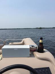 out on the water