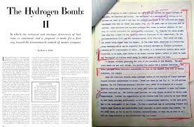 posts tagged atomic energy commission restricted data at left the redacted bethe article as published in scientific american 1950