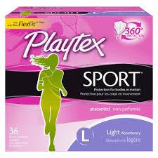 Tampax Sport Light Playtex Sport Tampons Light Absorbency Plastic 36ct
