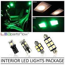 2015 Mustang Map Light Replacement Ledpartsnow Interior Led Lights Replacement For Ford Mustang 2005 2009 Package Kit 4 Bulbs Green
