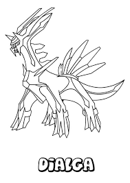 Small Picture Legendary Pokemon Dialga Coloring Pages Legendary Pokemon Dialga