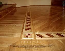 the palette hardwood floor border inlay installed with oak parquet flooring