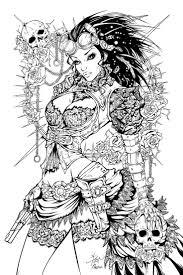Lady Mechanika Inks By Fendiin Deviantart