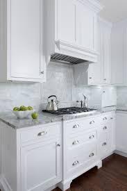 set cabinet full mini summer: white inset cabinets super white counters marble backsplash dark wood floors mb