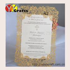 Elegant Rose Wedding Invitations Card Laser Cut Simple Wedding