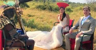 Photo Shows New Hubby and Wife Blessed by Zulu Chief, Wows SA