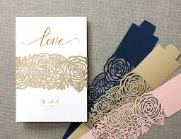 Elegant Invitation Cards Us 22 61 13 Off Floral Laser Cut Belly Band Wedding Decor Elegant Invitation Cards Belly Band In Cards Invitations From Home Garden On