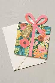 birthday present card anthropologie