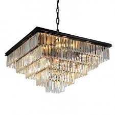 rh 1920s odeon clear glass fringe square chandelier design