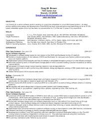 Software Engineer Resume Objective Free Resume Example And