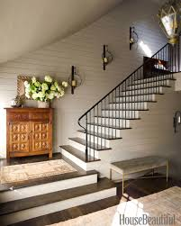 Stairway Decorating Idea with Sconces