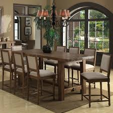 kitchen and dining chair pub height table and 6 chairs dark wood