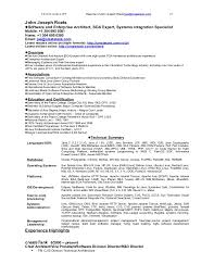 Informatica Sample Resume Best of Resume Of John Joseph Roets