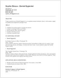 Dental Assistant Resume Templates Entry Level Dental Assistant Resume Template Resumes Objective For