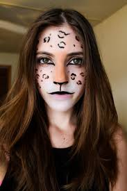 this has the same base as the cute cat makeup but with a bit of extra work i painted my nose brown