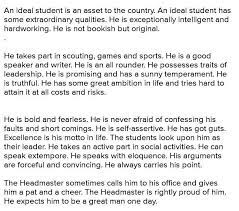 essay on an ideal student in my life