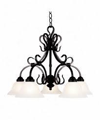 landmark lighting 245 bkb uckingham 5 light unmarried tier chandelier in matte blacm with white
