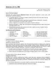 Sample Nursing Student Resumes Inspirational Rn Resume Sample New