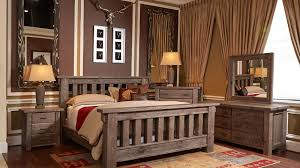 Rustic Furniture Bedroom Rustic Dark Pine King Bed Gallery Furniture