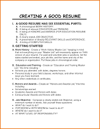 How To Make A Proper Resume Make Resume Good Job Resume Format