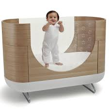 solid wood baby furniture. Neoteric Ideas Solid Wood Baby Furniture Unique Large Oval Wooden And Metal Crib With Glass Sides