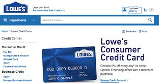 Lowes Commercial Credit Card Application Lowes Credit Card Login Access View Your Lowes Credit Card Payment