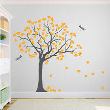 gingko tree wall decal the awesome web yellow wall sticker