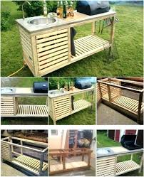 portable sink table outdoor kitchen sinks camping unit folding tap garden porta portable sink