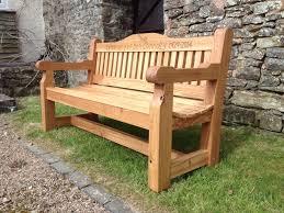 oak memorial bench the wooden work oakford devon