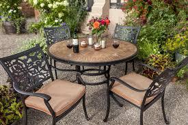 celtic aria 4 seat round garden dining furniture set