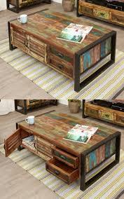 urban chic 4 door 4 drawer large coffee table