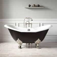 60 clawfoot bathtub elegant 61 arabella cast iron double slipper tub lion paw feet black60 clawfoot