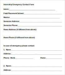 Employee Emergency Contact Form Template 12 Emergency Contact Forms Pdf Doc Free Premium