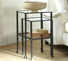 amazing tanner nesting side tables bronze finish pottery barn inside end table accent round living room